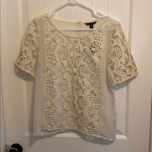 NWT medium American eagle cream sheer top